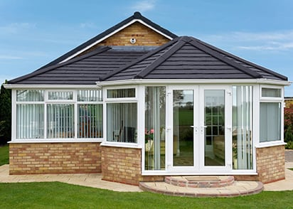 modern conservatory in Dorset